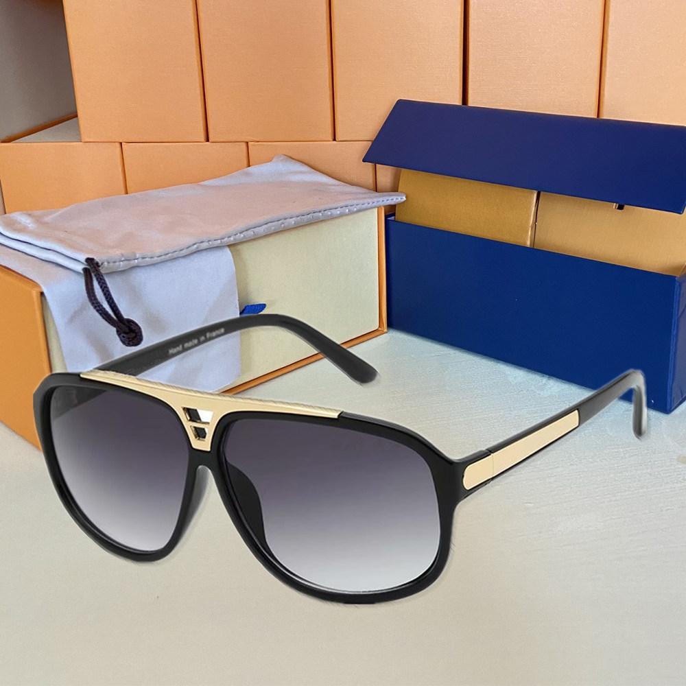 1pcs Moda Gafas de sol redondas gafas sol gafas de diseño del marco Negro de la marca de metal oscuro 50mm lentes de vidrio para mujer para hombre Brown Mejor Casos