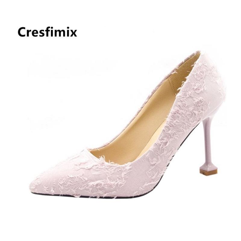 CRESFIMIX MUJER TACONAS TACONAS ALTAS Moda Fashion Cómodo Primavera Shoes High Heel Shoes Lady Black Office Office Bombas B5336 Vestido