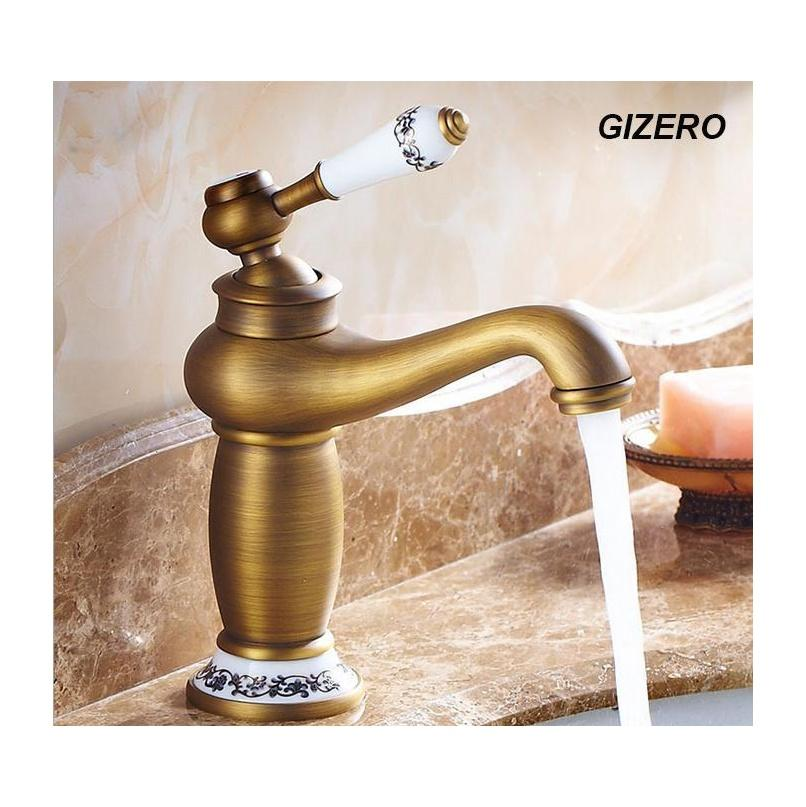 Sink Faucets Faucets, Showers Accs Home & Garden Drop Delivery 2021 Wholesale- High Quality Bathroom Antique Bronze Basin Mixer Deck Mounted