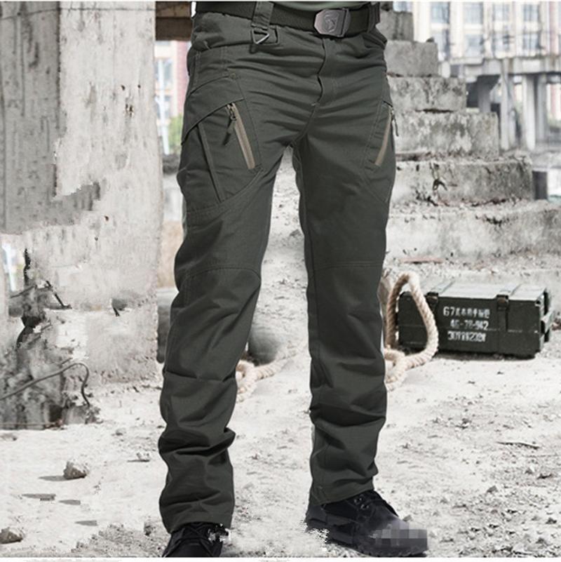 Брюки городские военные тактические SWAT боевые армейские брюки мужчины многие карманы водонепроницаемый зимний теплый флис случайные грузы