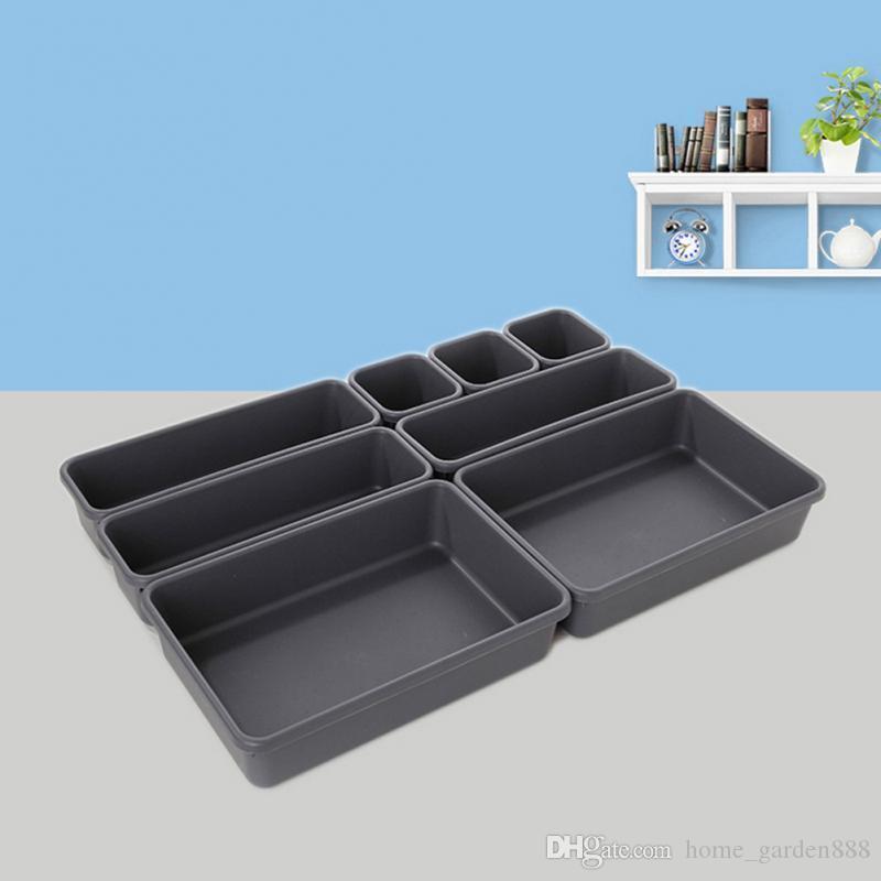 Home Office Storage Box Kitchen Bathroom Closet Desk Box Storage Box Carton Storage Drawer Organizer Tableware