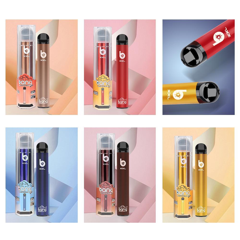 2000 Puffs Bang XXL Tek Kullanımlık Vape 800 mAh Kalem Elektronik Sigara E Çiğ Buhar Pod XXTRA Puf Bars Artı XXL Tek Kullanımlık Buharlaştırıcı