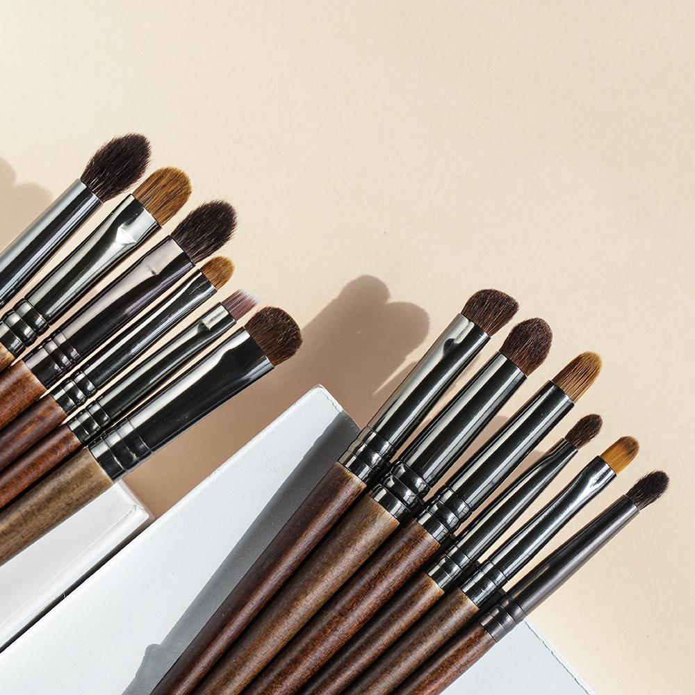 OvW 12 قطع panceau maquillage العين ماكياج الشعر الطبيعي فرش مجموعة كيت مستحضرات التجميل المكياج أداة الجمال تجعد فرشاة كحل الحاجب 210417