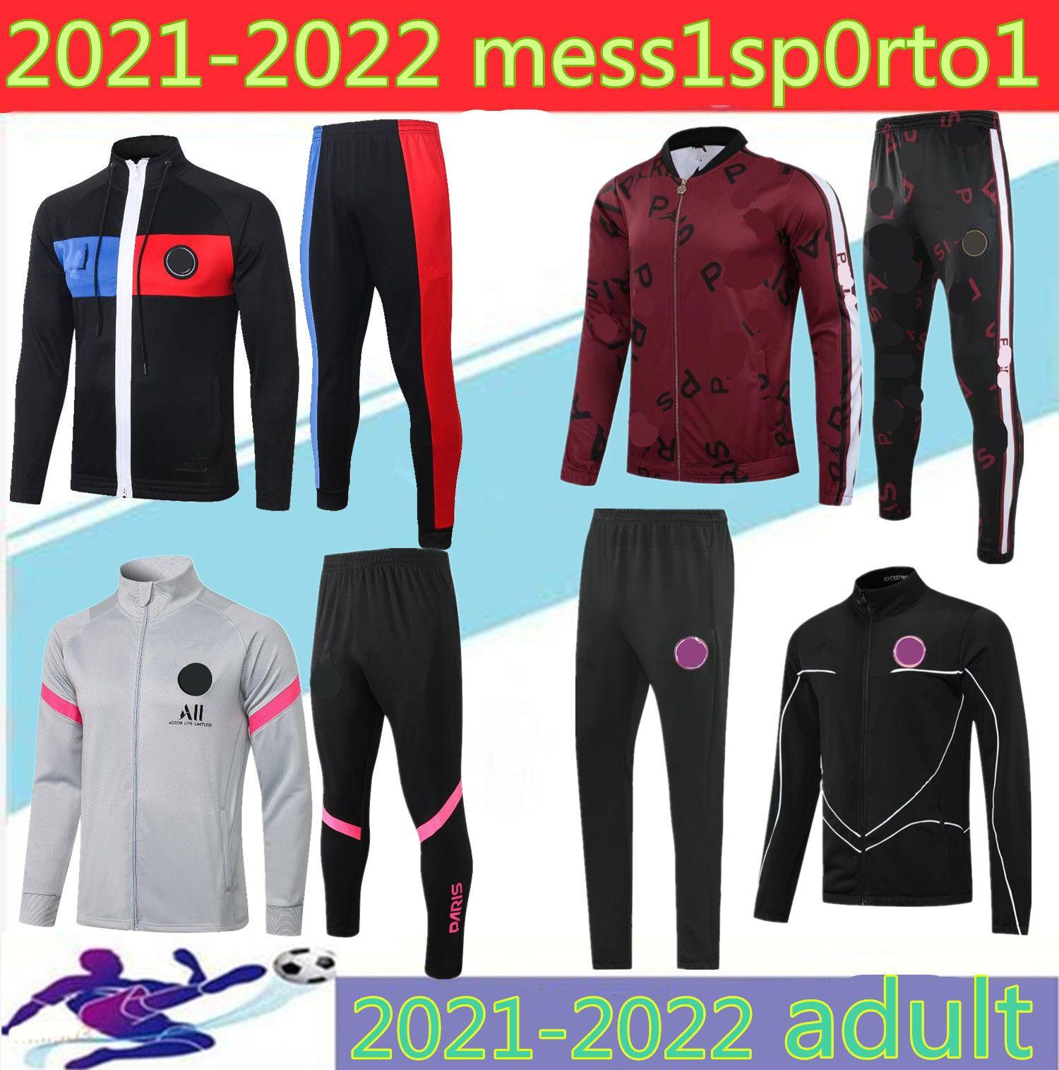 2021 PAR Tracksuit 자켓 까마귀 실질 20 21 샹들리 풋볼 Mbappe 축구 재킷 축구