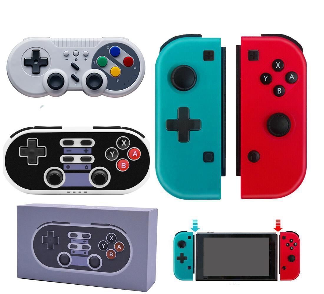 Sans fil Bluetooth Pro GamePad Contrôleur Joystick pour Switch Jeux Poignée Joy-Con droite Bleu Red Host Host SWH GamePod avec boîte de vente au détail