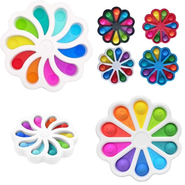 간단한 딤플 Fidget 장난감 Fidget 장난감 인 Figet Toys 스트레스 구호 어린이를위한 성인 조기 교육 간단한 딤플