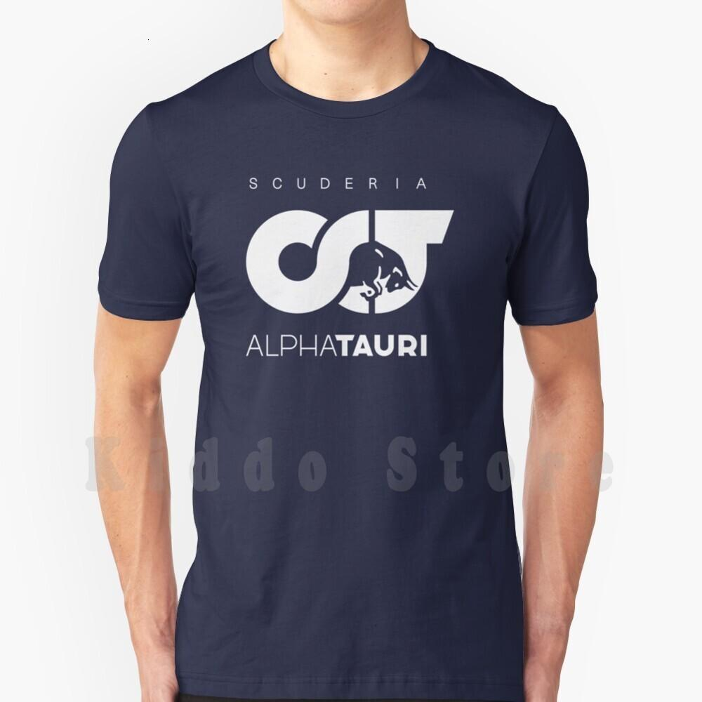 Alfa Tauri t-shirt Scuderia Katoen homens DIY Impressão Cool Tee Tauri Gasly Pierre Racing Drive On