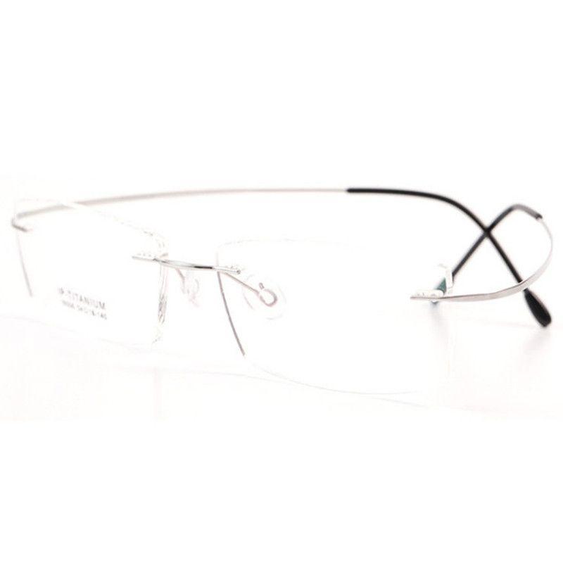 Чистый титановый оптический кадр силуэт типа гипоаллергенные хрустящие очки кадр мужчин женщины бренд ультра легкие очки с оригинальным корпусом