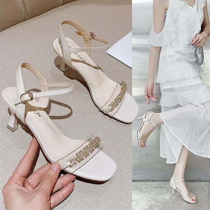 Sandales estivales transparentes