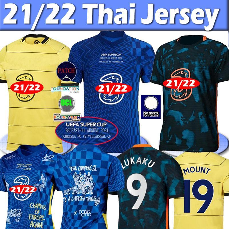 21 22 Chelsea soccer jersey CFC Fussball 4th Jersey Havertz Kante Werner Pulisische Ziyech-Trikots Abraham Mount 2020 2021 Männer Kinder Frauen Fußball Hemden Thailand Top