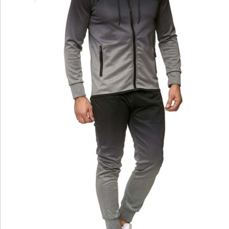 TrackSuit 2021 Costume occasionnel pour hommes Fashion Changement de changements progressifs