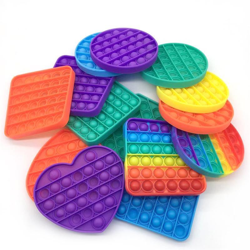 Pop Fidget Oyuncak Kabarcık Wrap Masası Oyuncaklar Parti Malzemeleri Kare Duyusal İtme Kabarcıkları Gitmek Stres Rölyef Kaygısı Kurulu Masaüstü Parmak Oyunu GGA4583
