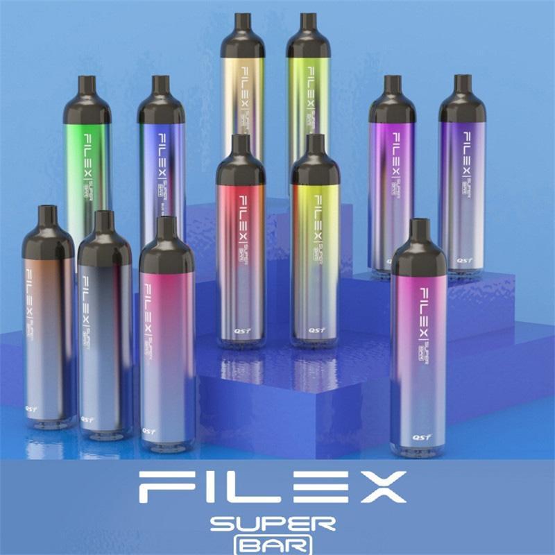 100% original QST Vapor Flex Super Barre Jetable E-Cigarette E-Cigarette 2200 Puffs 1250mAh Batterie Prérouvé 6,5 ml Pod Vape Pen vs Plus Max