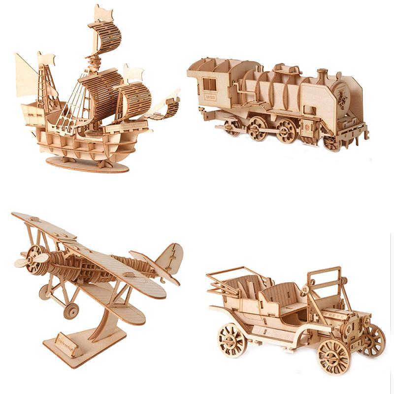 1 قطعة الخشب الأطفال الاطفال قطع الليزر diy الإبحار السفينة لعب 3d خشبية لغز لعبة الجمعية نموذج الحرف أطقم مكتب الديكور