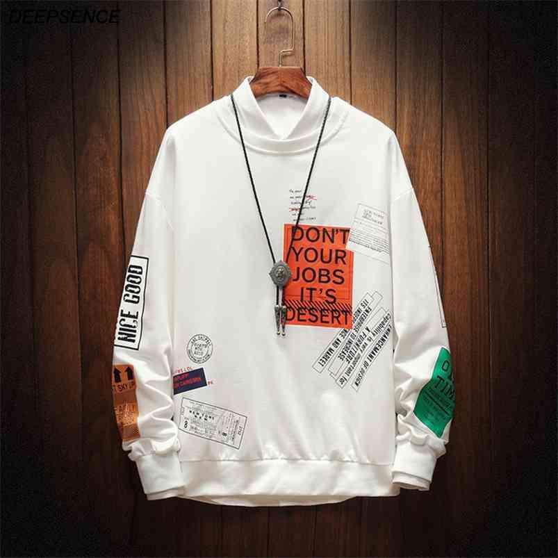 Sweats occasionnels de printemps Vêtements pour hommes Vêtements à col rond Mode Chemises Hip-Hop Shirts Hommes Streetwear Hommes 210728