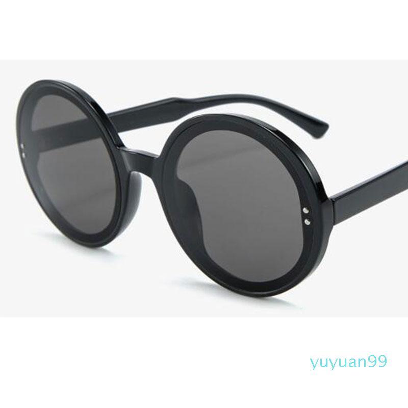 Occhiali da sole sovradimensionati rotondi Donne Brand Designer Gradiente Occhiali da sole femminili Maschio grande cornice UV400 Eyewear