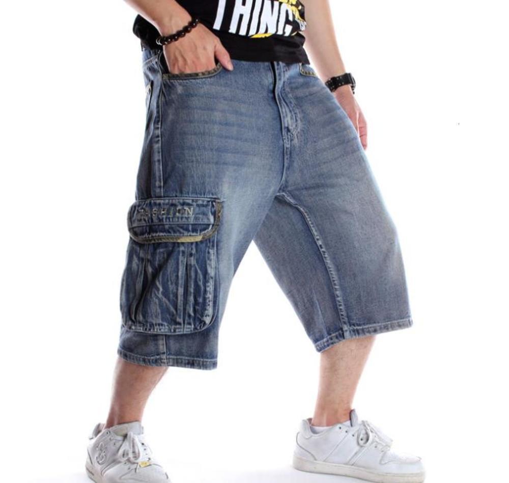 Sommer Männer Shorts Jeans Hip Hop Denim Boardshorts Amerikanische Mode Hosen Lose Baggy Cotton Herren Hose Bottoms Große Größe 46