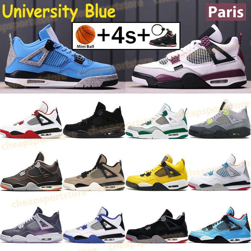 2019  4  New Bred 4 4S IV What The Silt Red Splatter Herren Basketballschuhe Denim Blau Eminem Pale Citron Sports Designer Sneakers 41-47