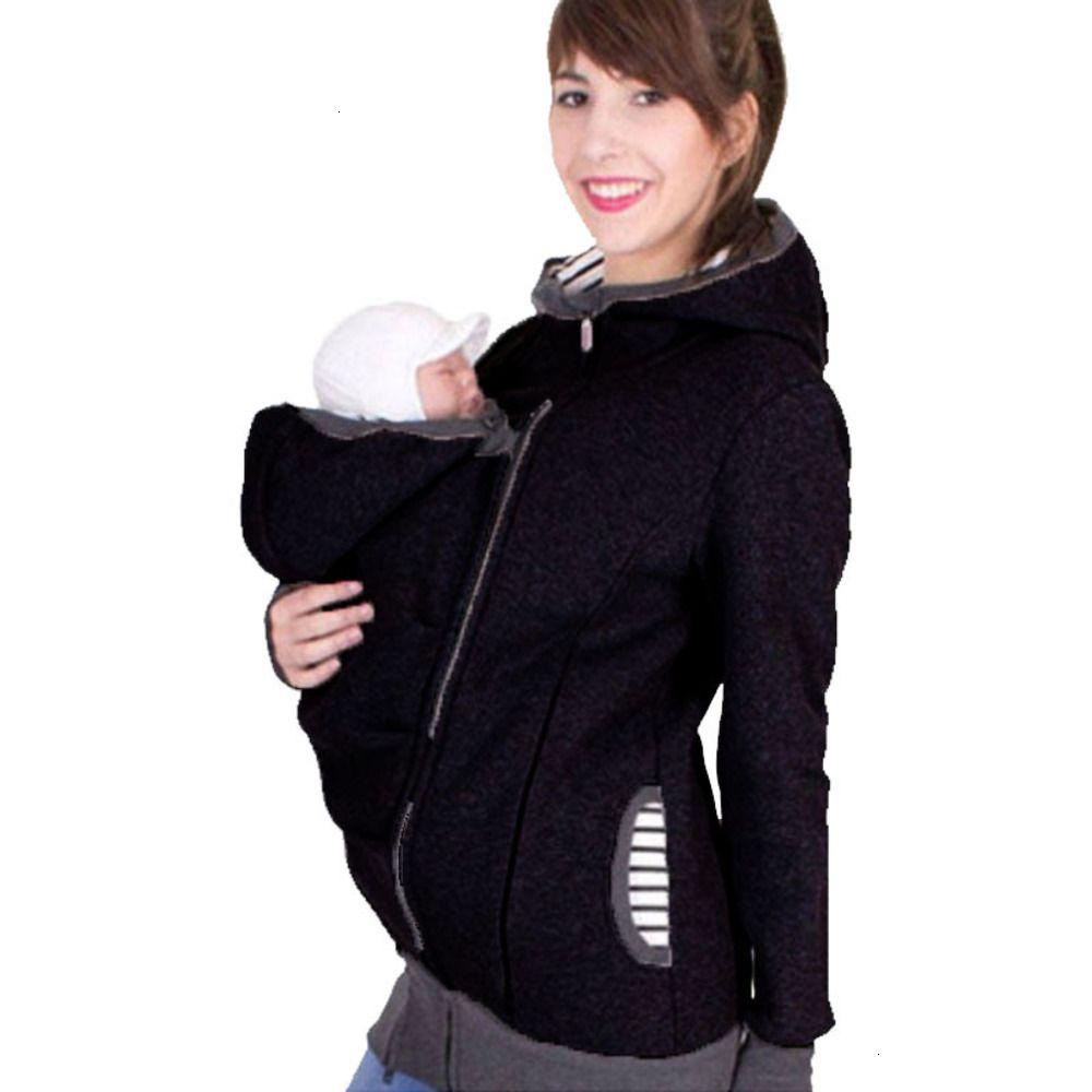 2021 Tres multifuncionales en un Kangaroo Hooded Women Suéter (Bolsa de guardería desmontable)