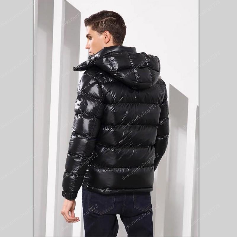Mens 겨울 아래로 자켓 두건 자 켓 남자 여자 커플 파카 겉옷 두꺼운 코트 블랙 레드 패션 파이 극복 크기 S-3XL