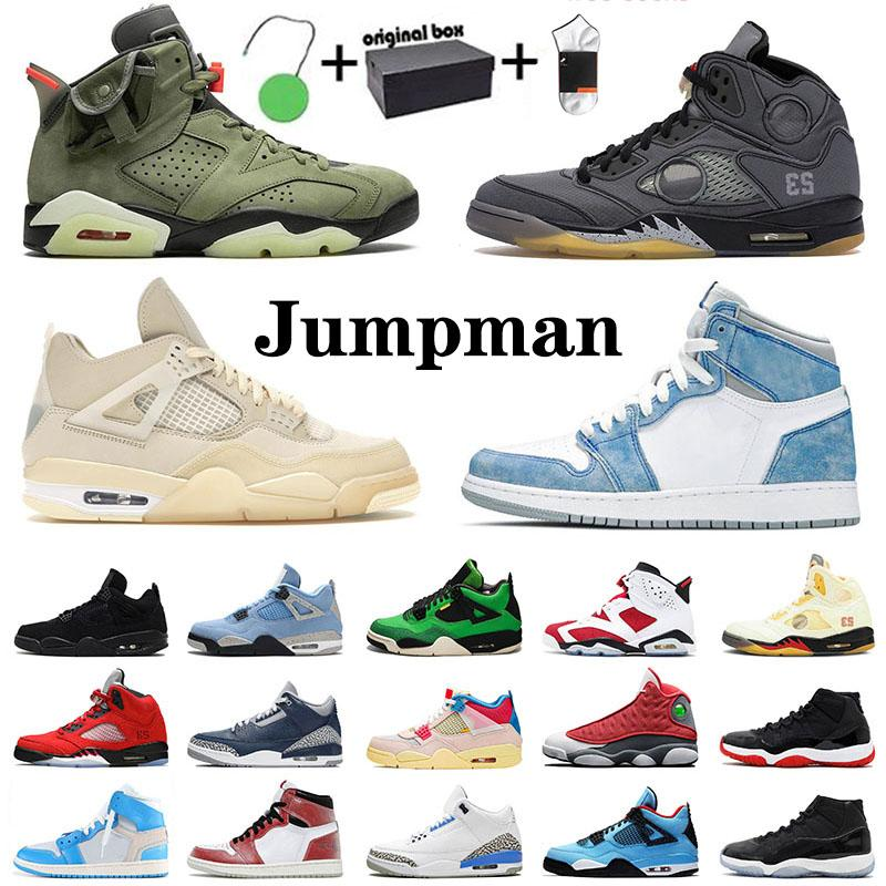 Nike Air Jordan Retro 1 Chicago University Blue High OFF White 박스 운동 jumpman 농구 신발 남자 여자 시카고 1 대학교 푸른 높은 돛 4 블랙 모슬린 5 선인장 잭 6 25th 11 부싯돌 13 조지 타운 운동화 트레이너