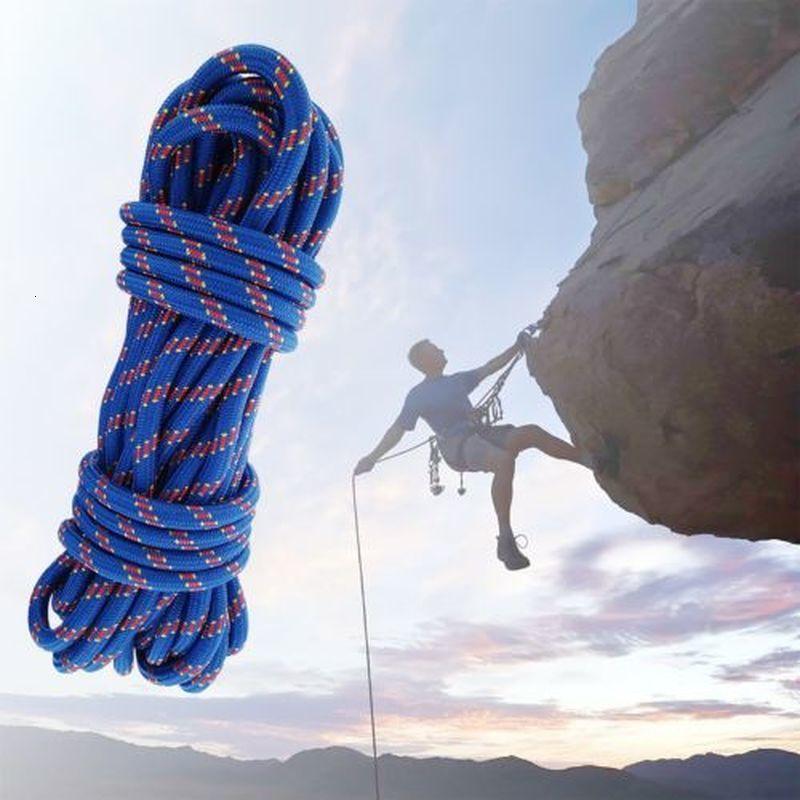 Paracord rock grimpant 20m 3kn diamètre de la lanière de roche en plein air 10mm de haute résistance de sécurité Cordon de camping randonnée à la randonnée accessoire de survie