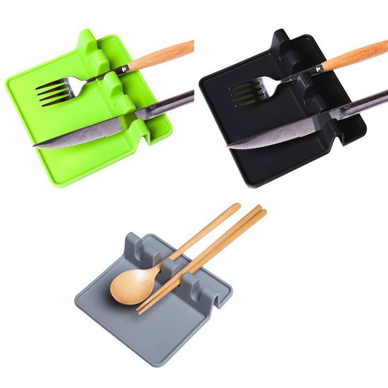 Silicona utensilio cuchara resto soporte de sopa goteo pad cocina herramientas estufa organizador de cocina estantería almacenamiento accesorio kdjk2104
