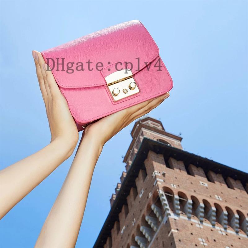2021 Normale Qualität Handtaschen Frauen Echt Leder Top Griff Einkaufstaschen Luxus Mode Design Eine Umhängetasche Geldbörse mit Hardware