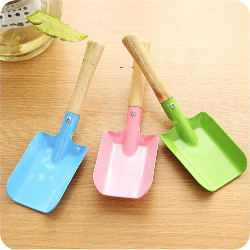 Metal Small Shovel Garden Spade Gardening Shovels Party Favors Kids Spade Sharp Integrated Digging Garden Tools OWF10684