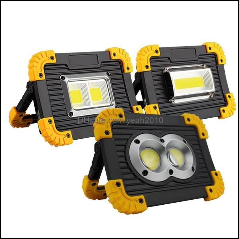 Portátil e caminhadas Esportes Outdoorsportable Lanternas LED Spotlight Cob Work Light Recarregável Ao Ar Livre Para Caça Cam Lanterna 1 Pc Drop de