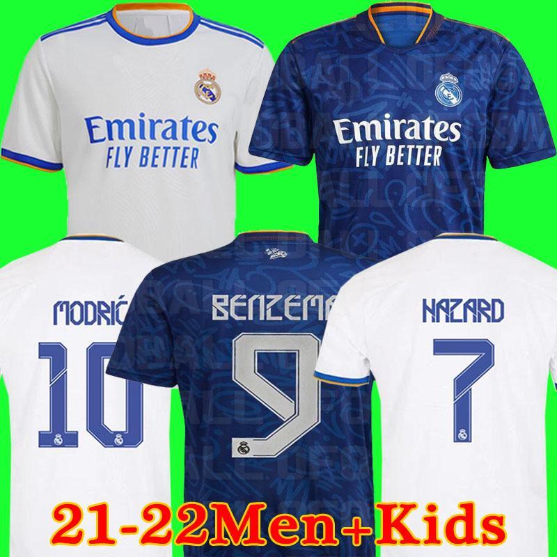 Maglie REAL MADRID maglia calcio HAZARD VINICIUS divise maglia da calcio camiseta uomo + kit per bambini soccer jerseys