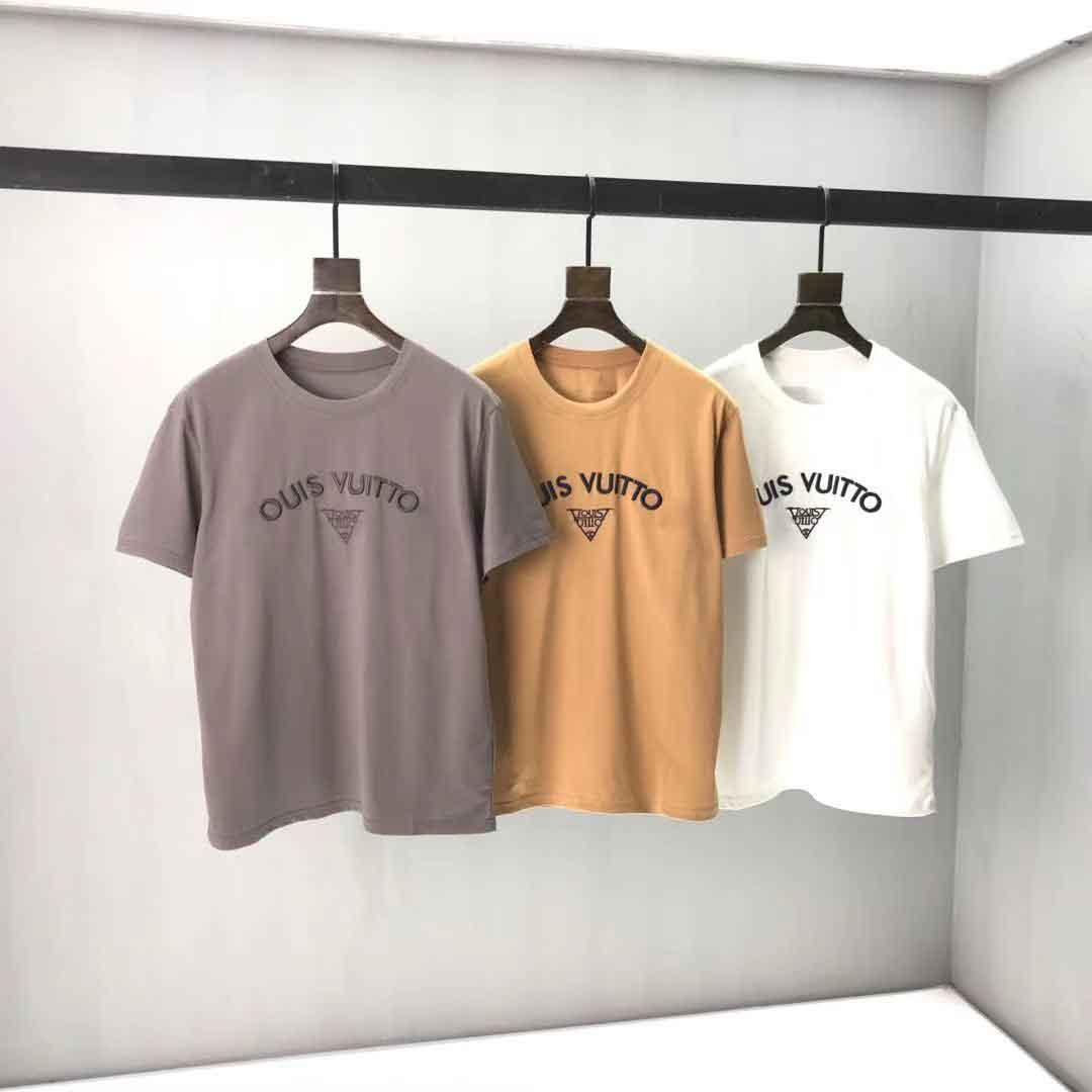 2020ss spring and summer new high grade cotton printing short sleeve round neck panel T-Shirt Size: m-l-xl-xxl-xxxl Color: black white 14Q