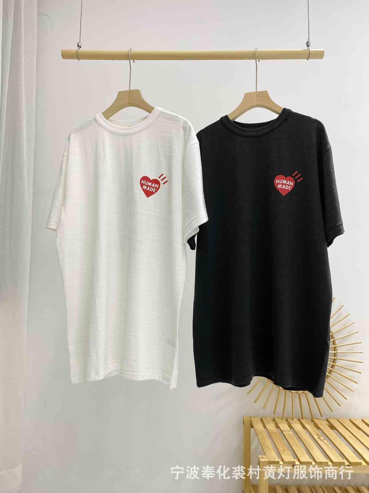 Aşk Pamuk Slubby Ördek İnsan Yapımı Kısa Kollu T-Shirt Brai B9TW