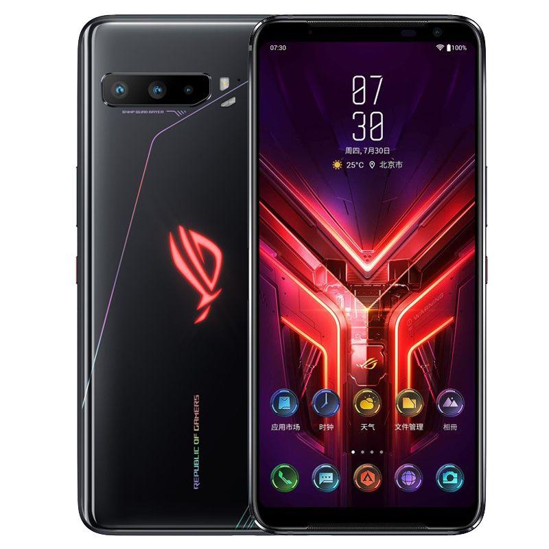 Original Asus Rog 3 5G Mobiltelefon Gaming 12 GB RAM 128GB 256GB 512GB ROM Snapdragon 865 PLUS Android 6,59 Zoll Amoled Vollbild 64MP 6000mAh Gesicht ID Smart Mobiltelefon