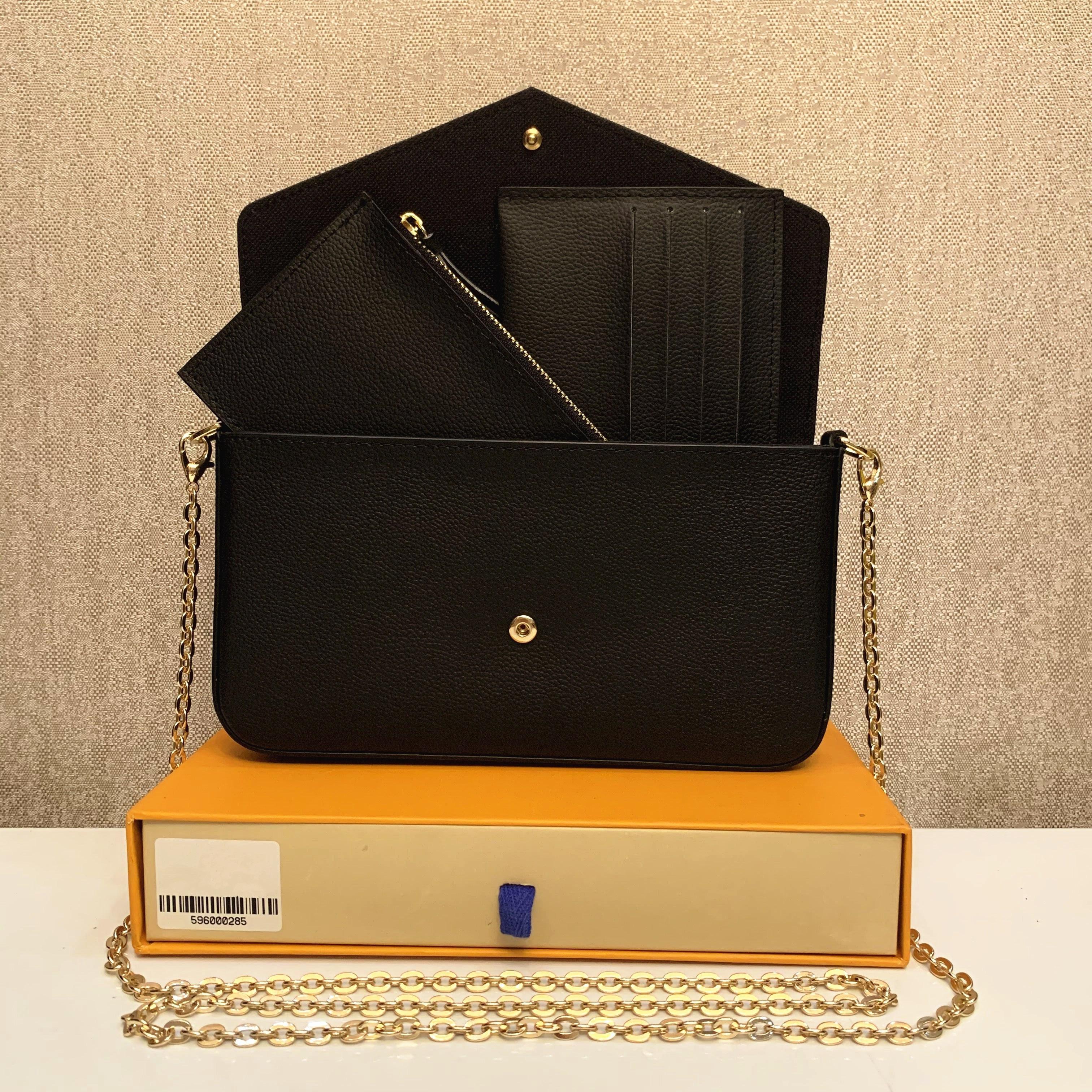 클래식 럭셔리 디자이너 핸드백 Pochette Felicie 가방 정품 가죽 핸드백 숄더 핸드백 클러치 토트 메신저 쇼핑 지갑 상자