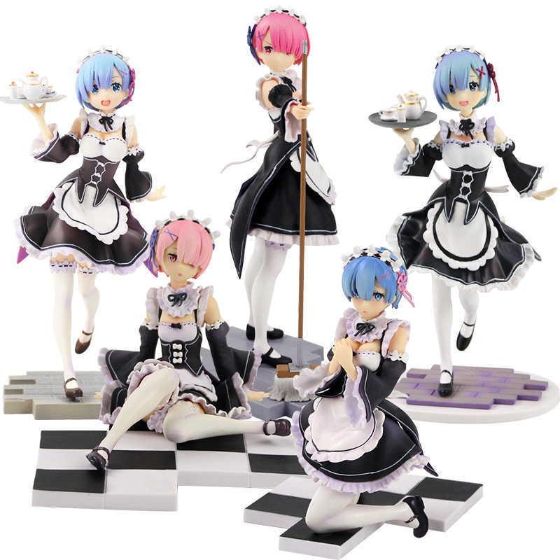 12-22cm Re: Leben in einer anderen Welt von Null READ REM Diener Anzug Version Figure Puppe PVC Collection Modell Spielzeug