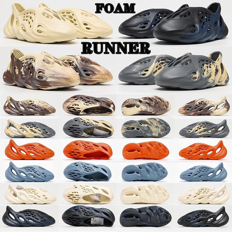2021 Originals Slide Slippers Foam Runner Shoes Sand Mxt Moon Gray Ararat Kanye West Resin Desert Earth Brown Bone Sandals Men Women Outdoor