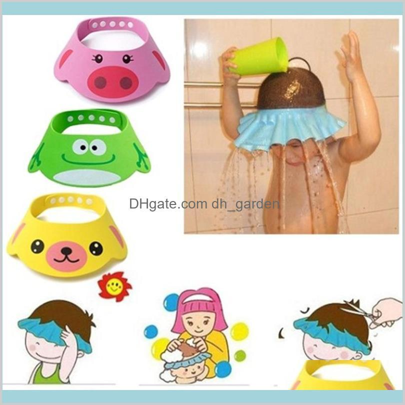 Caps Accessoires Hausgarten Evachildren Shampoo Wash Hair Hat Protection Eye Kids Baby Dusche Badekappe Visier Badezimmerbedarf Drop D