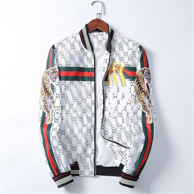 남성 캐주얼 재킷 슬림 타이거 자켓 겨울과 가을 고품질 재킷 남성 긴 소매 디자이너 코트 플러스 M-3XL