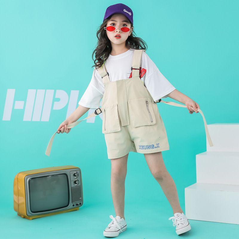 Conjuntos de ropa Traje Moda de niñas Suspensores de moda Hip Hop Jazz Dance Ropa de rendimiento