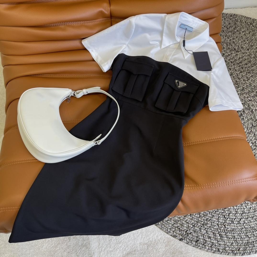 2021 Yaka Boyun Kısa Kollu Panelli Baskı Moda Milan Pist Tasarımcısı Elbise Marka Aynı Stil Elbise 0509-12