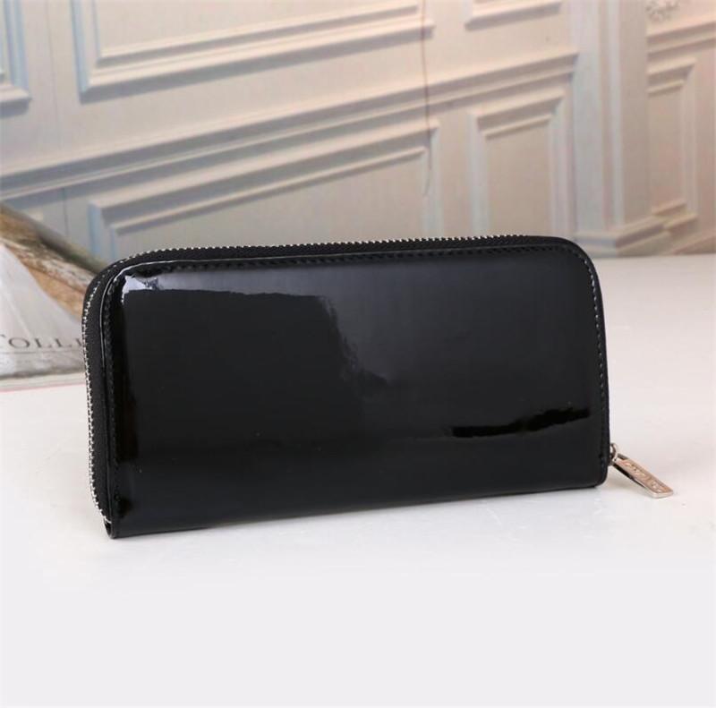 Carteira de couro de alta qualidade Carteira Mulheres Longa Lona Zipper Card Cards Bolsas Mulher Carteiras Moeda Bag
