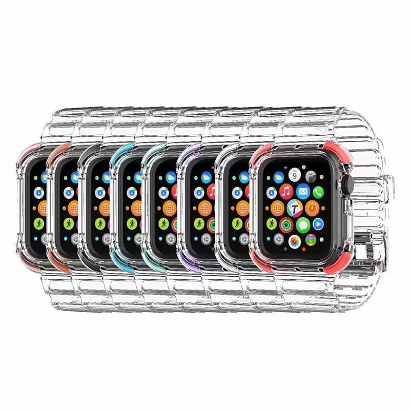 Reloj Watch Watch Bands Luxury Strap para Apple Iwatch Series 6/5/4/3/2/1 con estuche protector