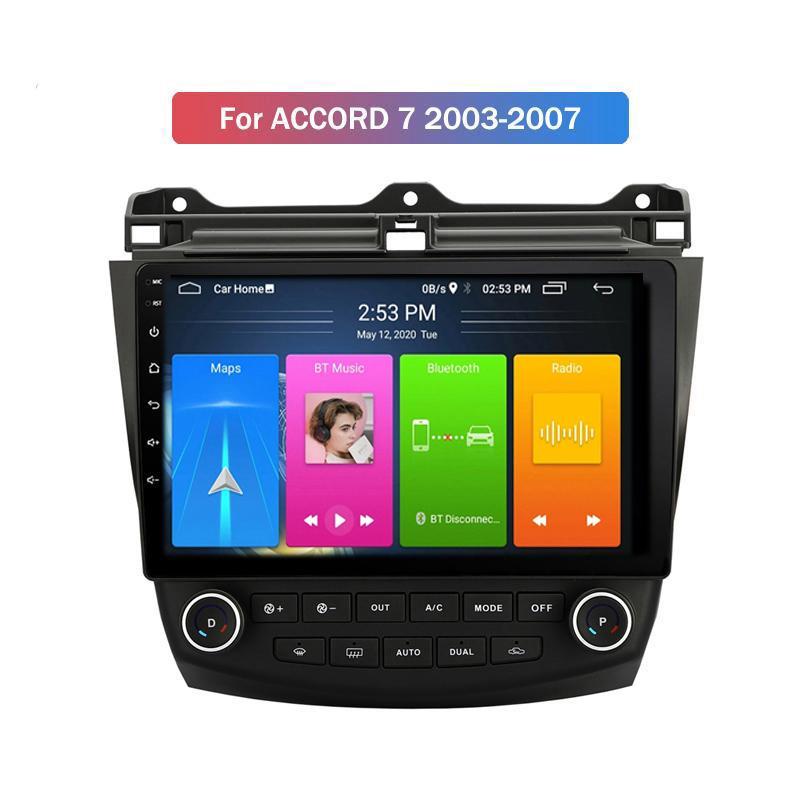 9 pouces 2 Din Android 10,0 4G Lecteur DVD de voiture pour Honda Accord 7 2003-2007 Radio Enregistreur Vidéo GPS WiFi Audio