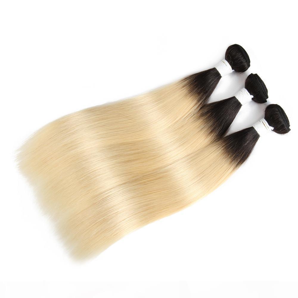 China 1b 613 Honig Blonde Gerade Ombre Farbige Haarwebart Bündel