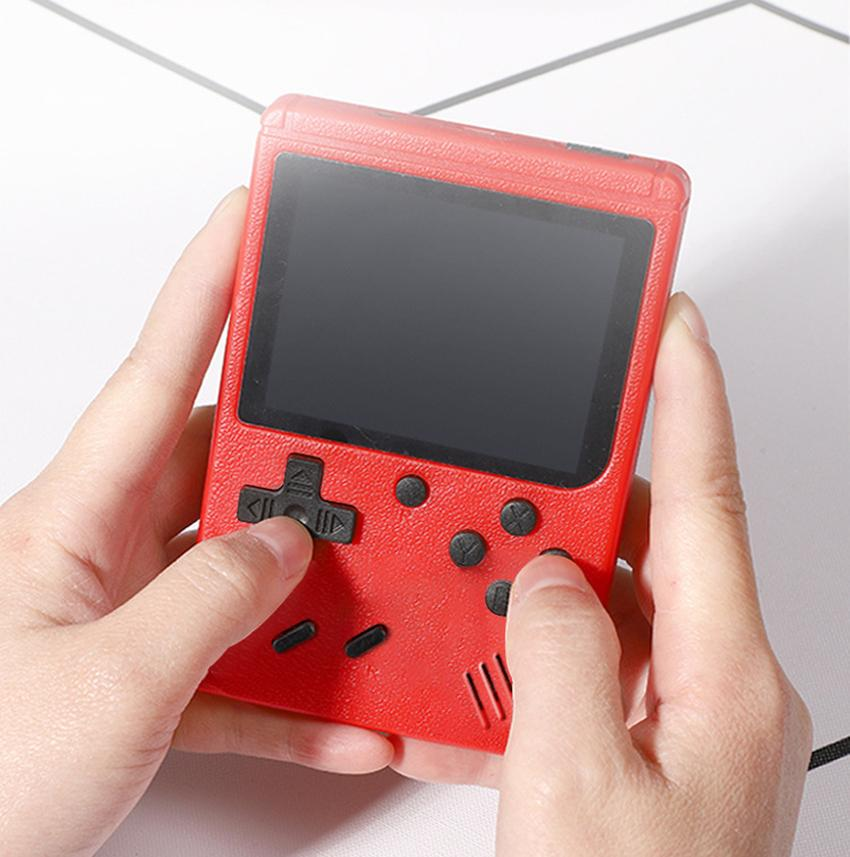 Mini Handheld Game Console Retro Portable Video Game Console Can Store 400 FC Games 8 Bit 3.0 Inch Colorful LCD Cradle Design