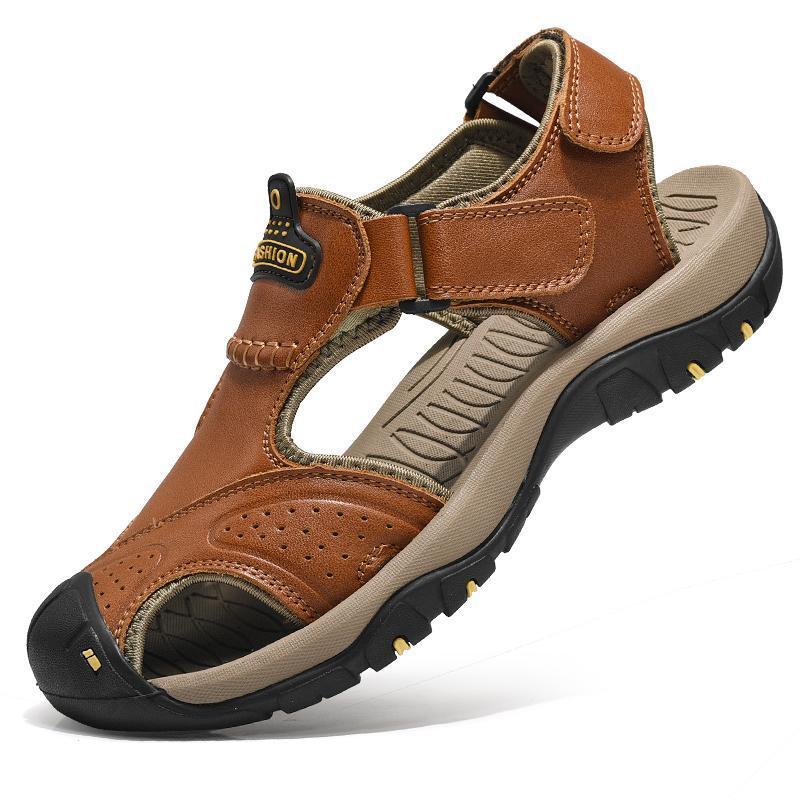 الصنادل Playa Sandalias Herren Cuero فيتنام Sandel Genuino دا Sandalen Homme Sandals الرومانية -رجال Rasteira Zandalias Sandles for Sandali