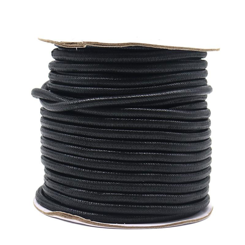 5-10meters/roll 2.5mm/3mm/3.5mm/4mm/5mm Korean Round Waxed Cord Necklace Rope Leather Cord Thread For Jewelry Making Accessories 1961 Q2
