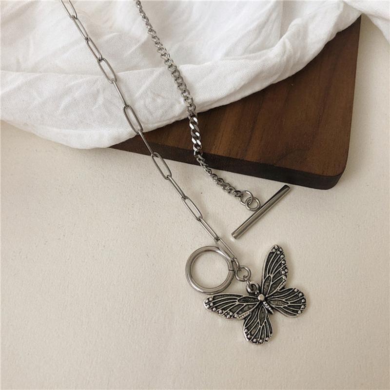 Vintage Schmuck Charm Schmetterling Choker Halskette für Frauen Clavicle Kette Mode Hip Hop Kragen Partei Geschenk Chokers