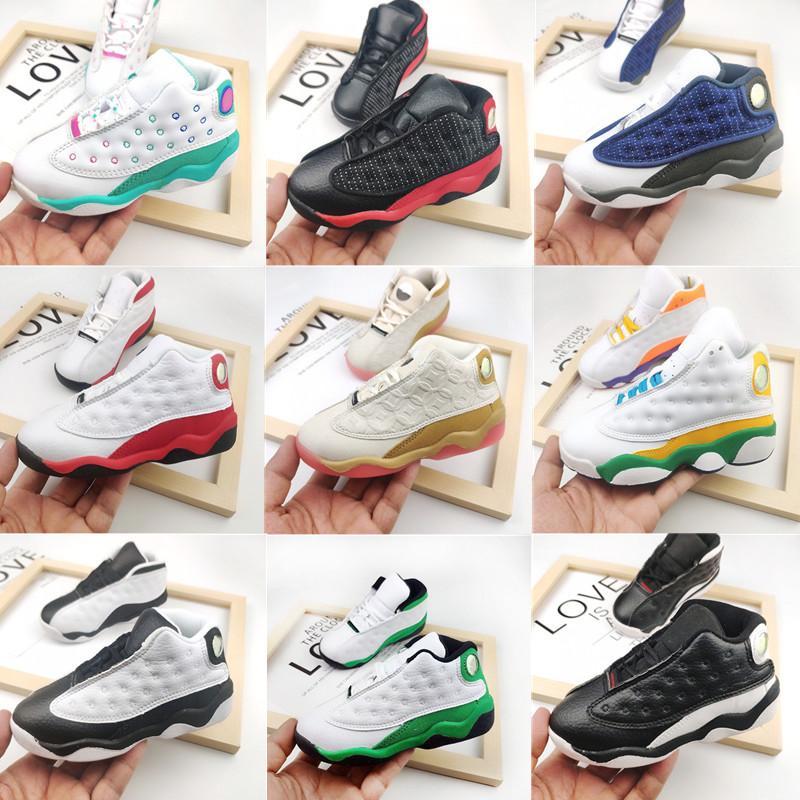 Bebek Yürüyor Sneakers 13s Çocuklar Koyu Toz Mavi Denizyıldızı Basketbol Ayakkabı Flint Denizyıldızı Bred Chicago Adası Aurora Yeşil Erkek Kız Küçük Chilredn Atletik Ayakkabı